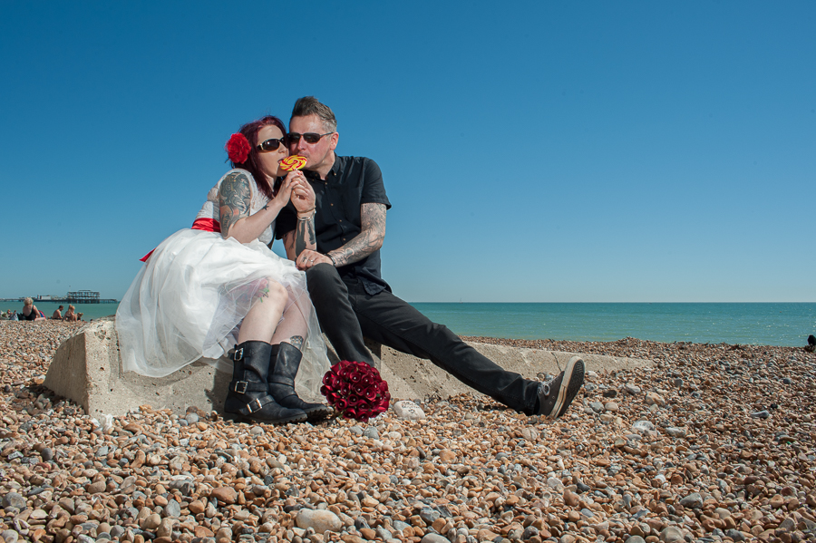 A Tim Burton-Inspired Brighton Beach Blessing With Extra PUNK ...